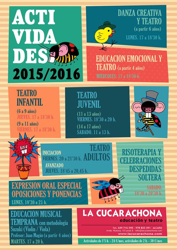 LA CUCARACHONA - cartel actividades 2015-16