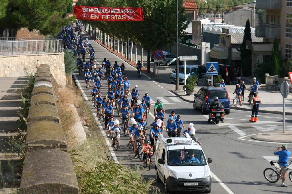 El XIX Día de la Bici de Mequinensa bate récord de participación