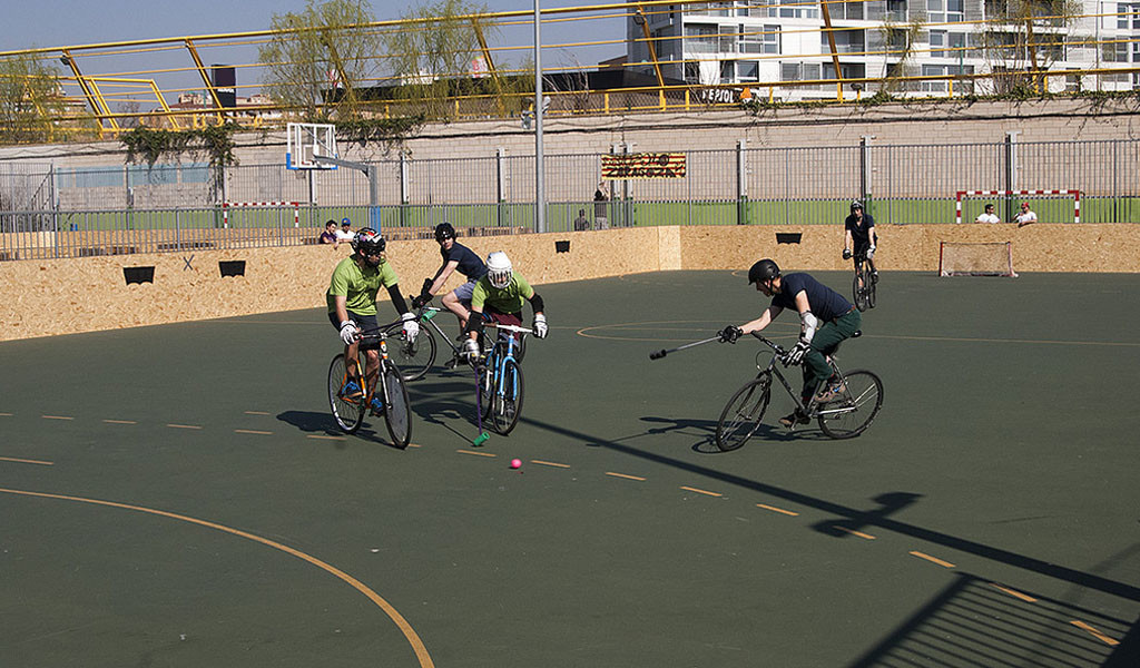 Zaragoza acoge el Campeonato Europeo de Bike Polo