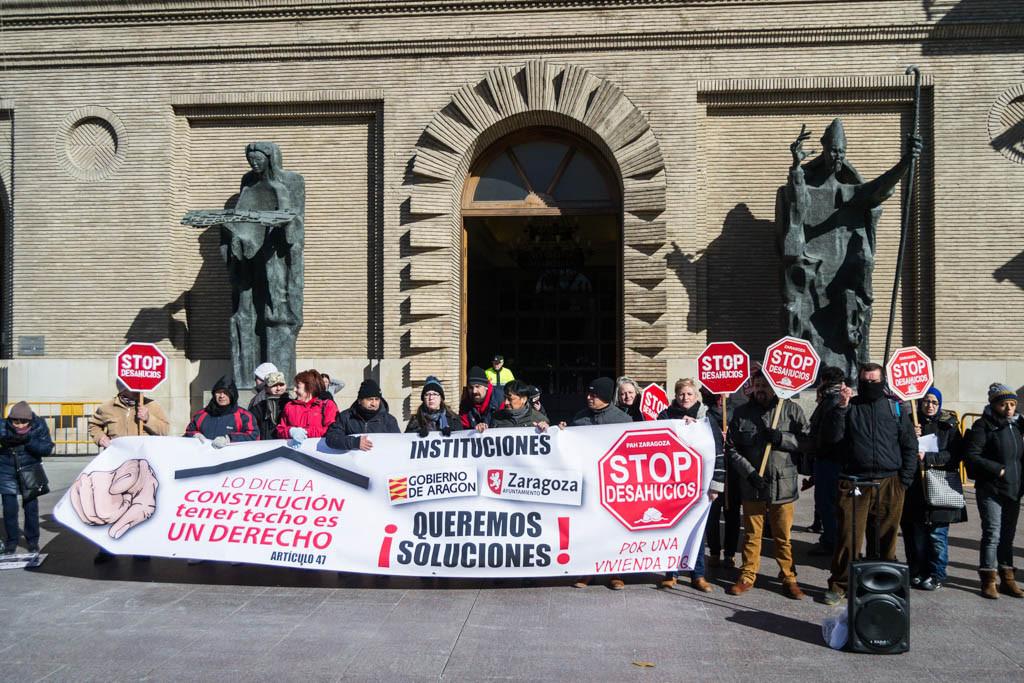PAH Zaragoza consigue la paralización de un desahucio previsto para este mes