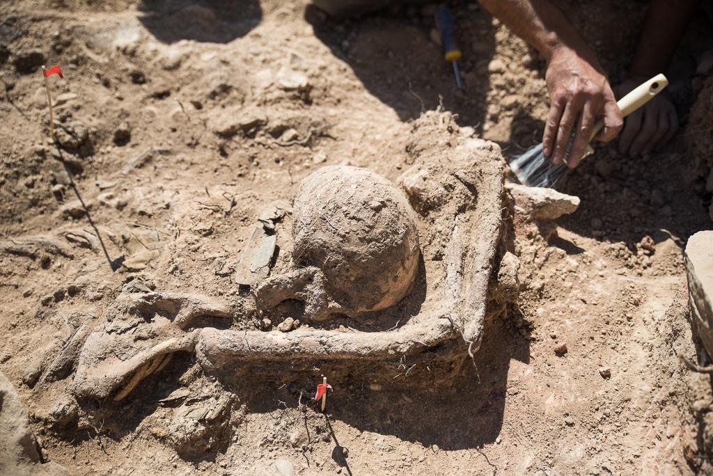 Exhumación en Caspe de tres Brigadistas Internacionales