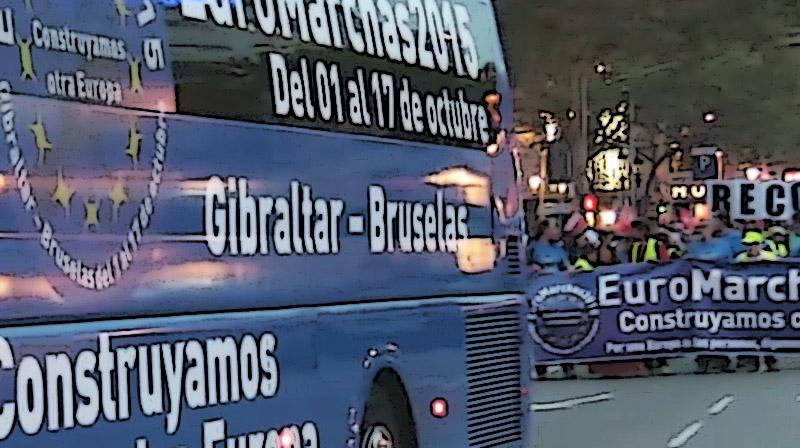 Las Euromarchas siguen con paso firme rumbo a Bruselas