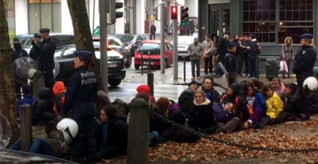 30 detenidos en Bruselas con motivo de las EuroMarchas