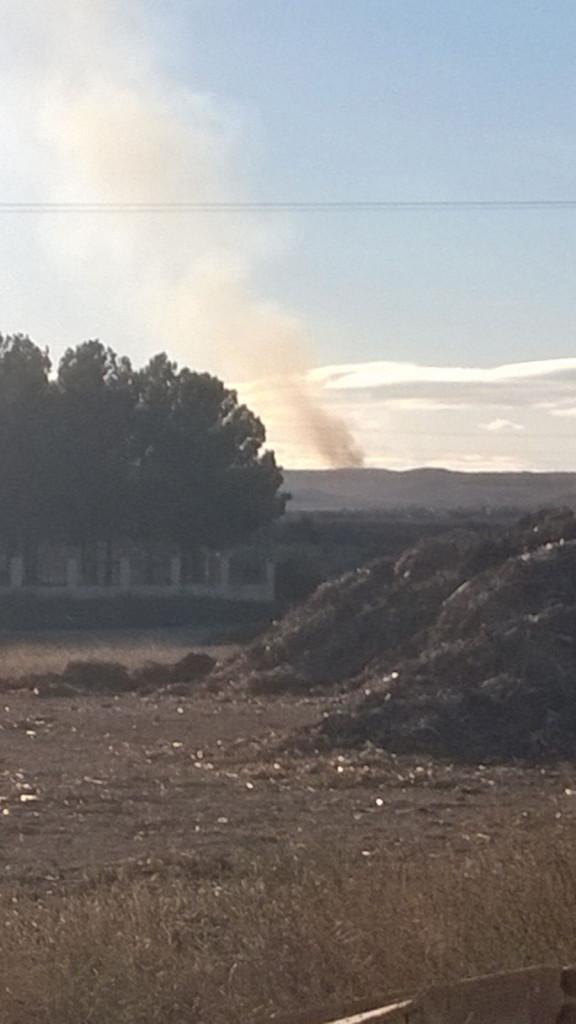 Foto difundida por CHA del incendio en San Gregorio.