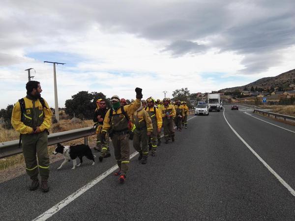 La Marcha Negra de las BRIF dedica la étapa de este sábado a Tatán, bombero forestal fallecido en 2012