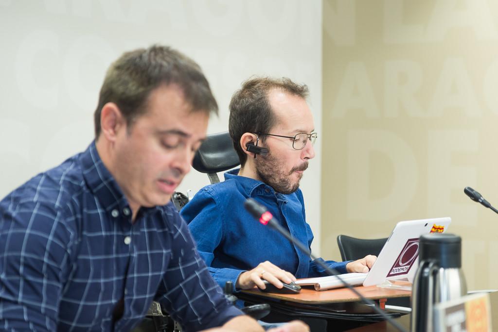 Echenique ve más difícil que Podemos apoye al PSOE en los presupuestos de Aragón