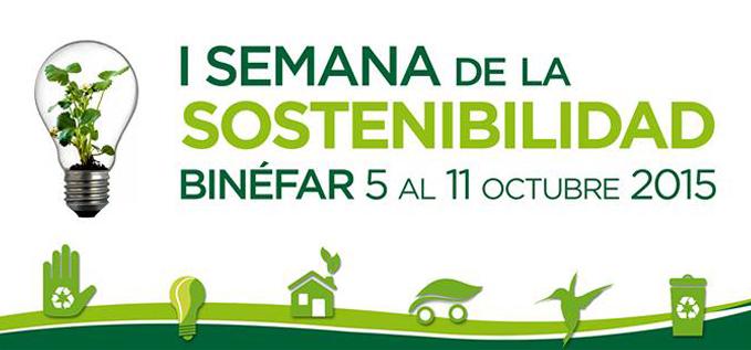 Binéfar celebra la I Semana de la Sostenibilidad