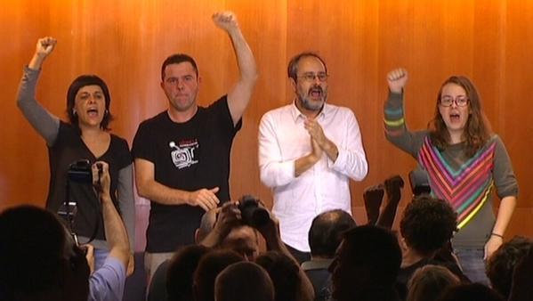 """La CUP afirma que """"no habrá gobierno autonómico, tiene que haber un gobierno de transición a la República de Catalunya"""""""
