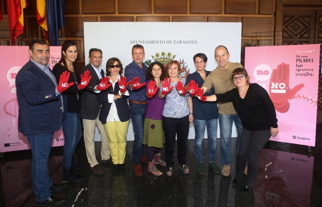 El Ayuntamiento lanza la campaña 'No es No. Por unos Pilares sin agresiones sexistas'
