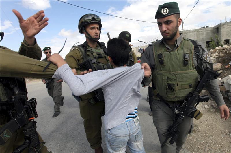 Israel ha detenido a 70 niños palestinos durante el mes de octubre