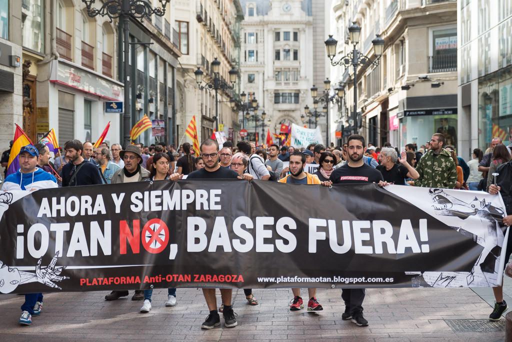 """""""Luces, gente, acción: contra la guerra"""", semana contra la OTAN y sus maniobras en Zaragoza"""