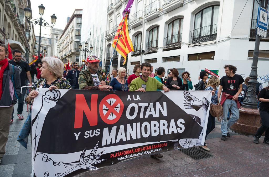 Un llamamiento contra las maniobras de la OTAN vertebra movilizaciones y acciones de desobediencia civil