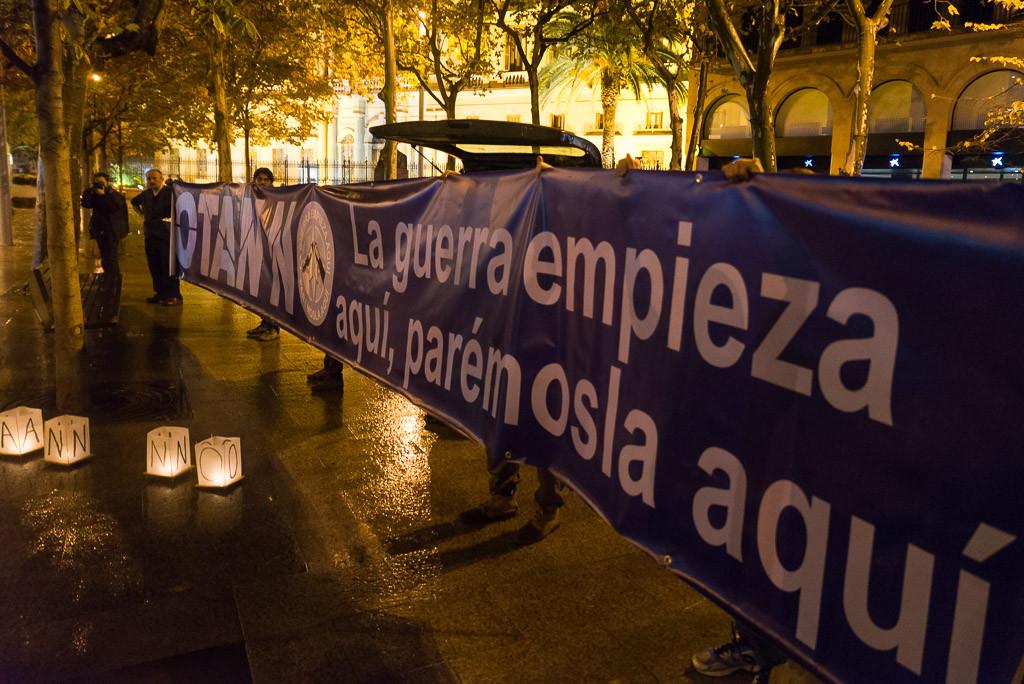 Protestas en Zaragoza, Uesca y Teruel por la visita del Secretario General de la OTAN