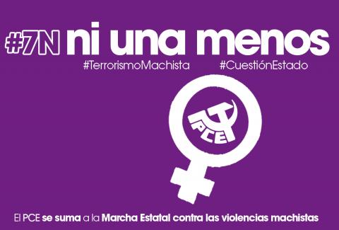 """PCE Aragón: """"Los gobiernos deben responder ya ante los feminicidios"""""""