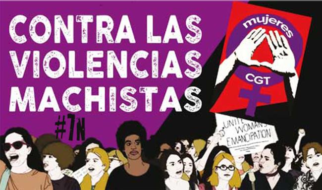 CGT llama a participar en la manifestación del 7N contra las violencias machistas