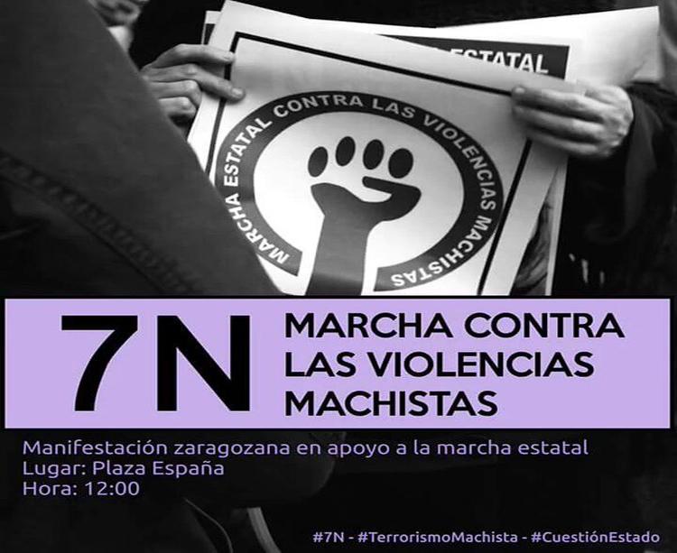 El Ayuntamiento de Zaragoza apoya la marcha estatal contra las violencias machistas que se celebra en Madrid