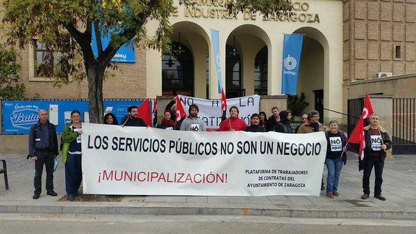 """Los trabajadores de las depuradoras """"en pie de guerra"""" contra el PSOE zaragozano"""
