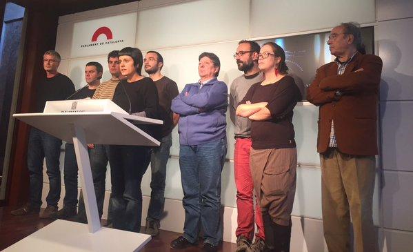 """La CUP-CC desmunta el """"fals relat"""" sobre que estan intentant imposar el seu programa polític a Junts pel Sí"""