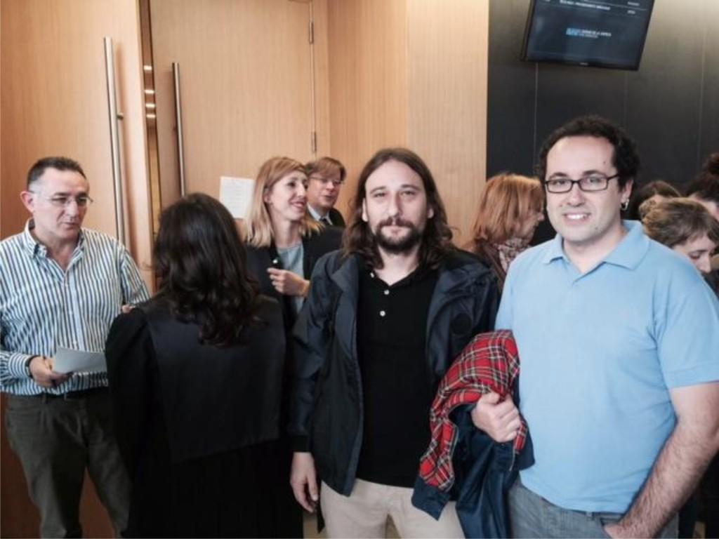 Pablo Híjar declara ante el juez tras el recurso presentado por Stop Desahucios