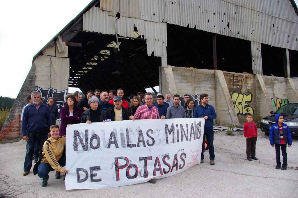 La Plataforma Unitaria Contra las Minas de Potasa en la Val d'Onsella y la Sierra del Perdón comparece en las Cortes de Aragón