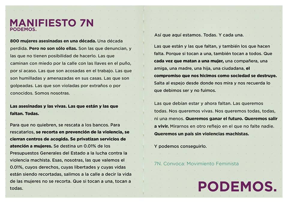 Aragón Sí Puede Graus apoya la manifestación del 7N