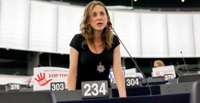 """Marina Albiol: """"Si els socialistes volen demostrar que s'ha trencat la Gran Coalició, que comencen per votar contra el CETA"""""""