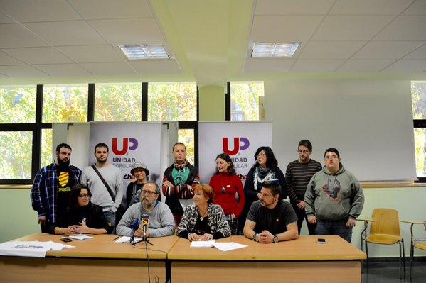 Unidad Popular culmina en Zaragoza su programa electoral con el que se presenta al 20D