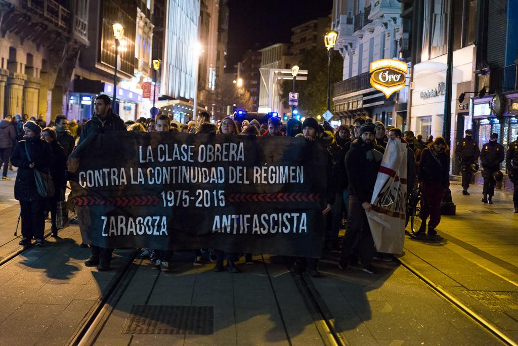 Una manifestación contra el fascismo recorre Zaragoza