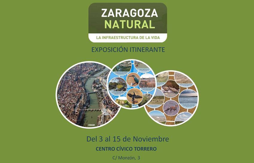 El Centro Cívico Torrero acoge una exposición sobre 'Zaragoza Natural. La infraestructura de la vida'