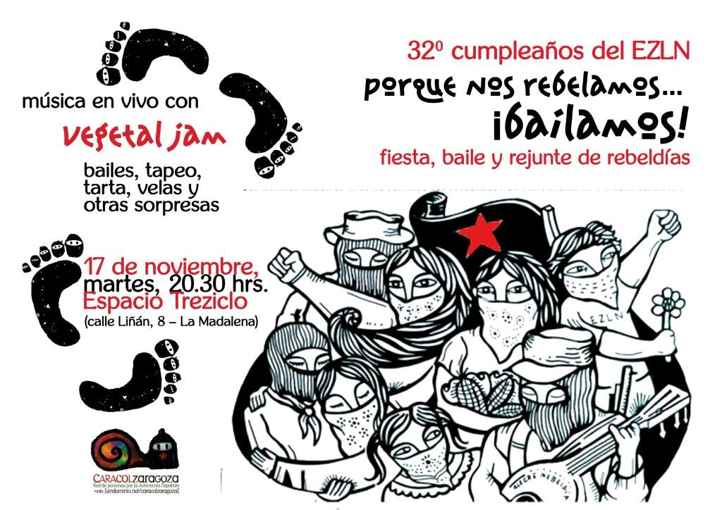 Caracol Zaragoza celebra el 32 aniversario del EZLN