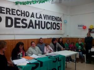 Rueda de prensa. Foto: Stop Desahucios.