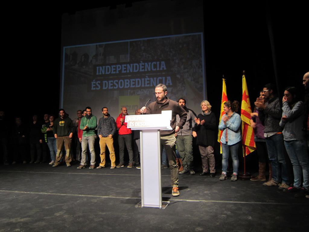 La CUP defensa la desobediència davant l'ofensiva judicial espanyola