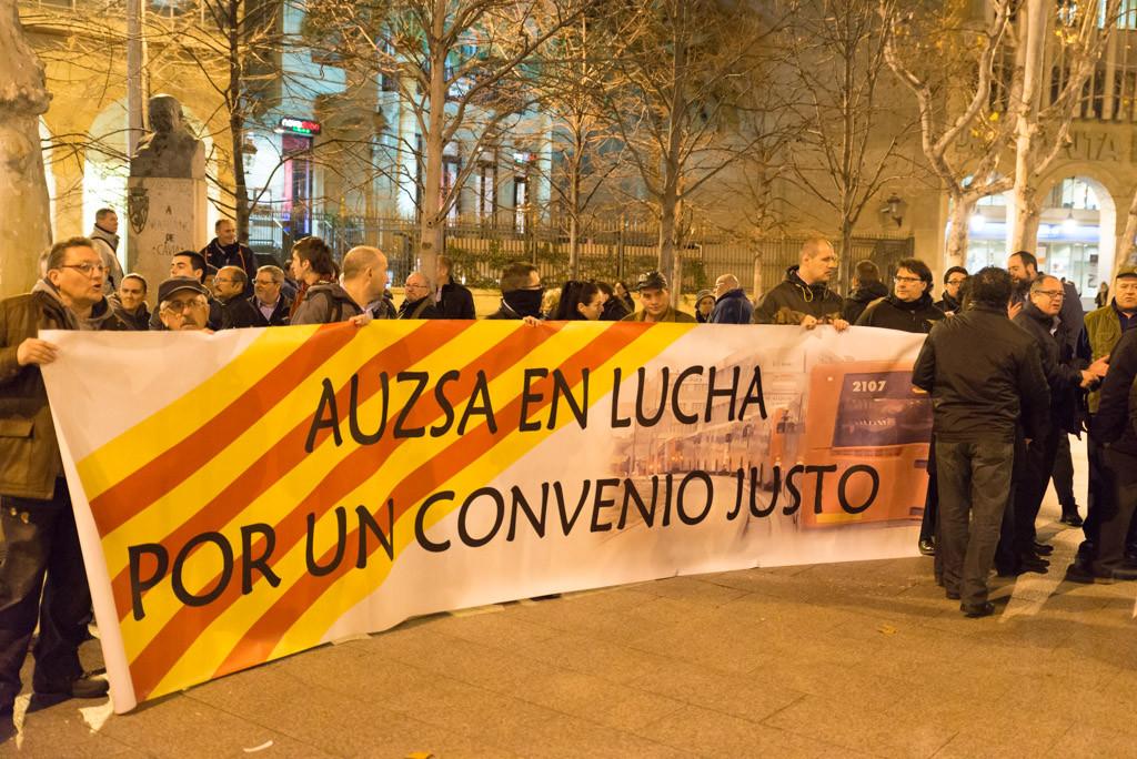 El comité de empresa de AUZSA plantea paros parciales que afectan a las Fiestas del Pilar