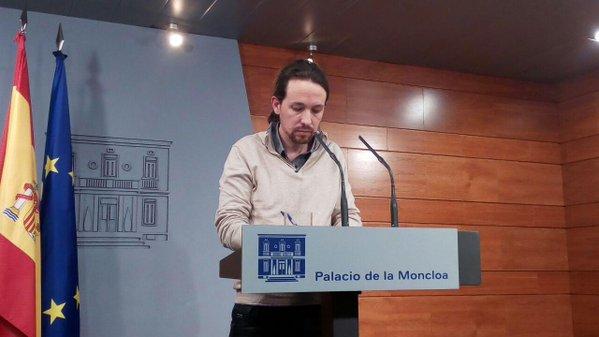 Pablo Iglesias: «Espero que el PSOE deje de hacer teatro»