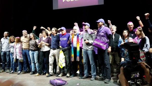 """Pablo Iglesias: """"Ya no somos sólo la fuerza de la indignación, somos la fuerza del cambio"""""""