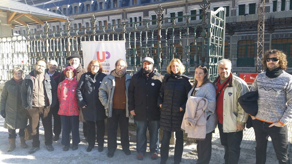Unidad Popular reivindica en Canfranc la reapertura para el año 2020