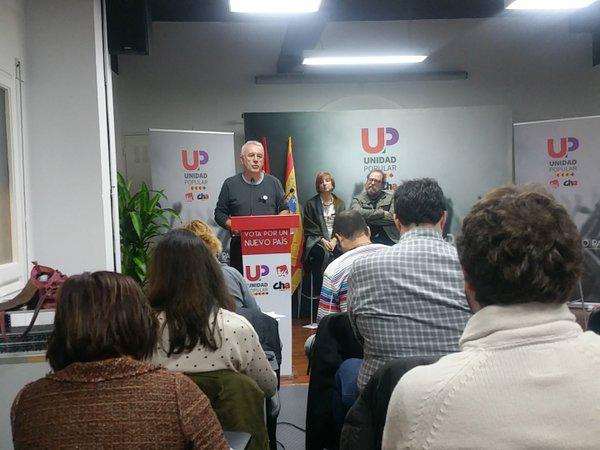 Unidad Popular apela al voto de la izquierda para que Aragón pueda tener representación propia en las Cortes