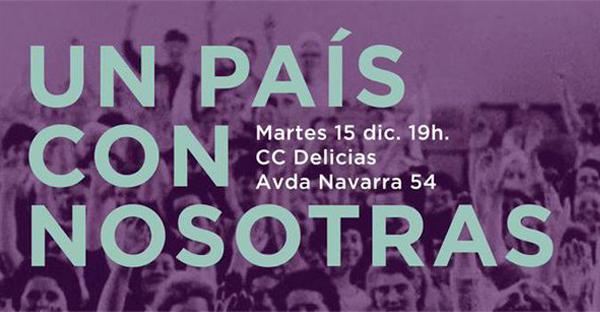 """Podemos organiza en Zaragoza el acto """"Un país con nosotras"""""""