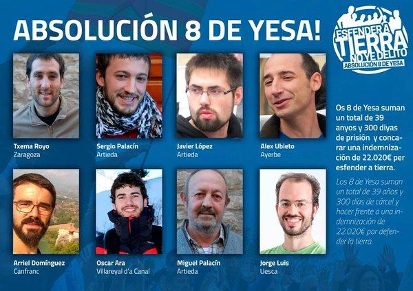 La dignidad de 'los 8 de Yesa' llega a las Cortes de Aragón