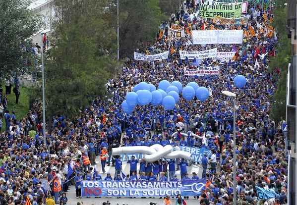 Aragón estará presente en la manifestación contra el Plan Hidrológico del Ebro
