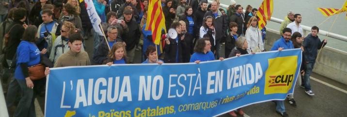La CUP-CC planteja la construcció de la nova cultura de l'aigua de la República catalana