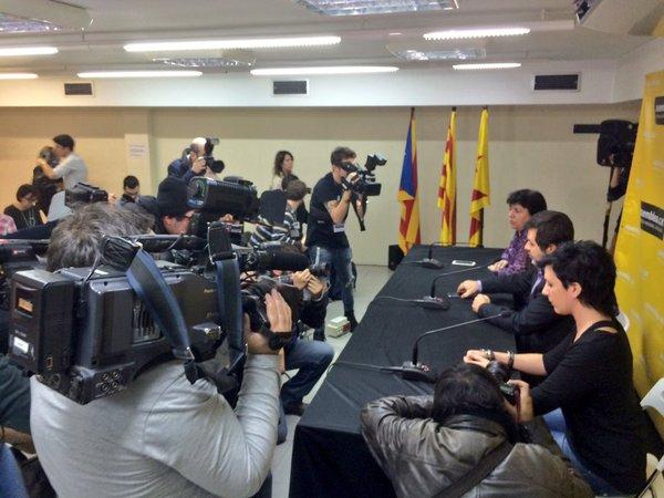 Termina sin acuerdo la reunión entre la CUP y Junts Pel Sí