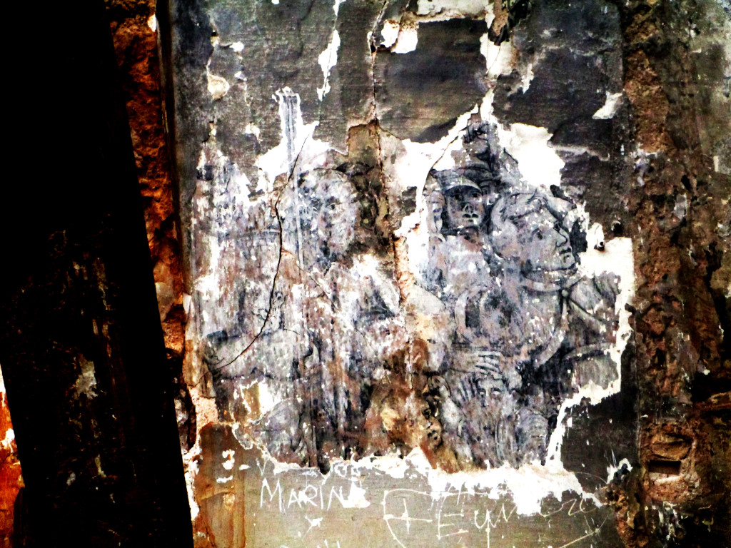Alarma en Belchite por un nuevo derrumbe