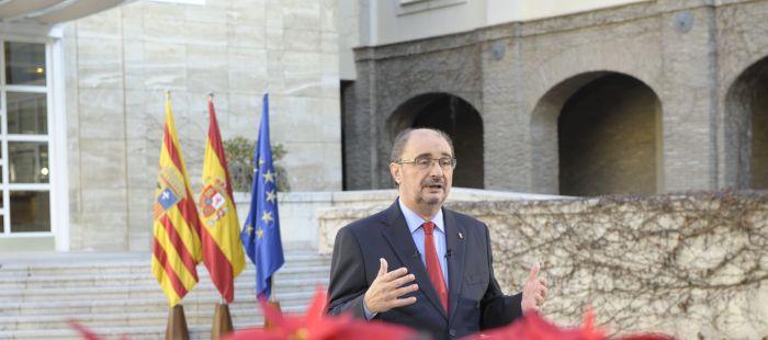 """Lambán defiende a ultranza la «unidad de España» y pide «altura de miras ante las incertidumbres sobre el futuro de la nación"""""""