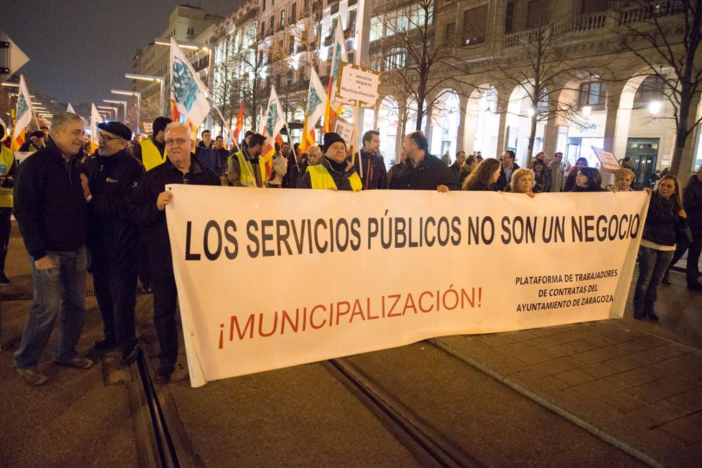 """La Plataforma por la remunicipalización acusa al PSOE de """"mantener la privatización y externalización"""" de las depuradoras de Zaragoza"""