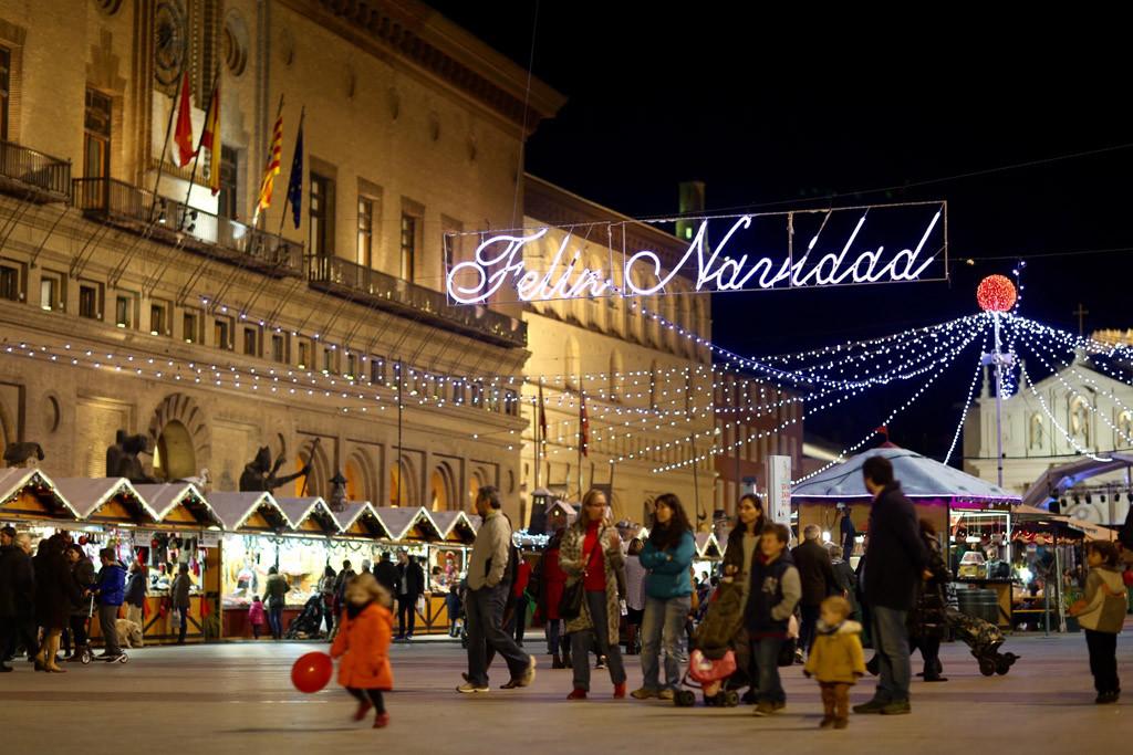 La VII Muestra Navideña tendrá actividades en la Plaza del Pilar durante todo el fin de semana