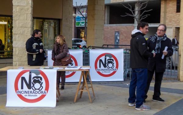 Foto: Plataforma No a la Incineradora de Biomasa en Monzón