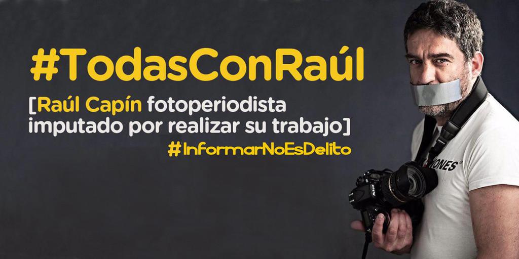 Marina Albiol: «A Raúl Capín se le juzga por denunciar con sus fotos la represión de la protesta»