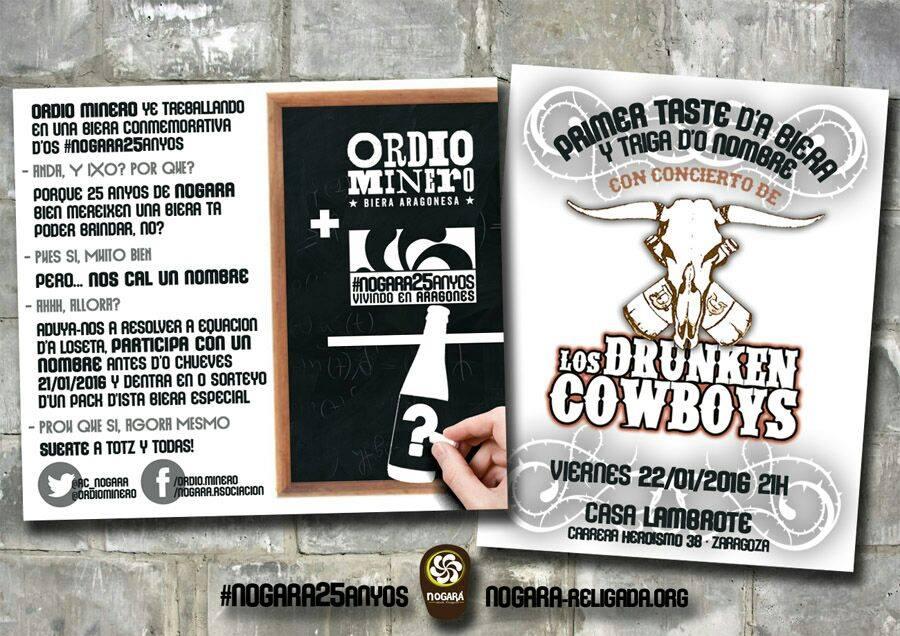 Presentación d'a biera nogarera y concierto de Drunken Cowboys