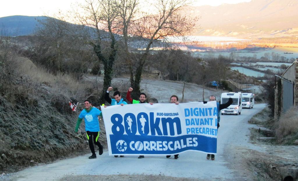 Correscales unifican las luitas en o suyo paso por Aragón